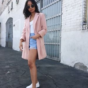 Pink Double Breast Blazer